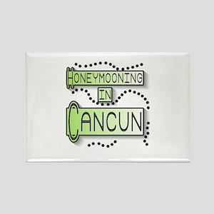 Green Honeymoon Cancun Rectangle Magnet