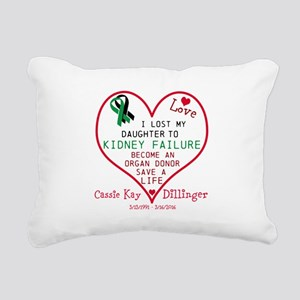 Personalize-Loss To Kidn Rectangular Canvas Pillow