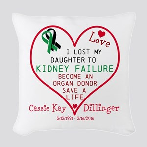 Personalize-Loss To Kidney Fai Woven Throw Pillow