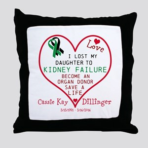 Personalize-Loss To Kidney Failure. Throw Pillow