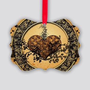 Heart made of rusty metal Ornament