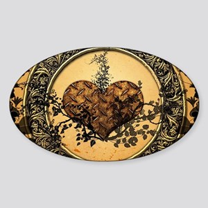 Heart made of rusty metal Sticker