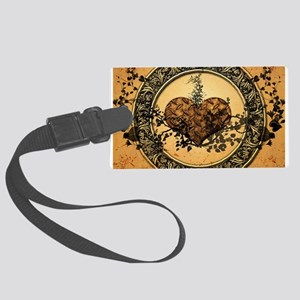 Heart made of rusty metal Luggage Tag