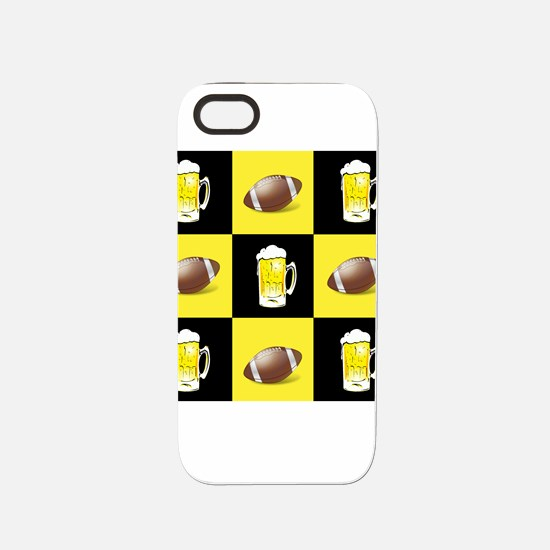 Football and Beer Black and Gold iPhone 5/5S Tough