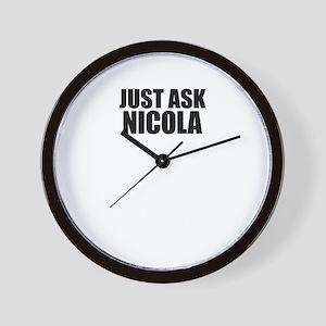 Just ask NICOLA Wall Clock