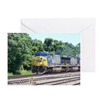 CSX Q190 Doublestack Train Greeting Cards (Pk of 1