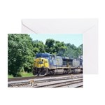 CSX Q190 Doublestack Train Greeting Card