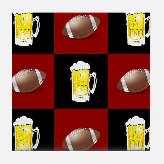 Funny Beer football Tile Coaster