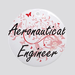 Aeronautical Engineer Artistic Job Round Ornament