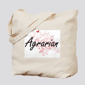 Agrarian Artistic Job Design with Butterf Tote Bag