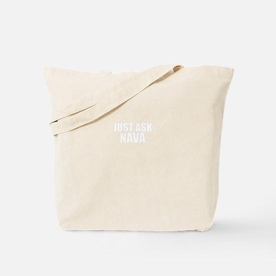 Just ask NAVA Tote Bag