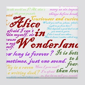Alice in Wonderland Quotes Tile Coaster