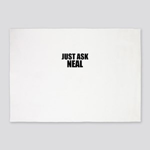 Just ask NEAL 5'x7'Area Rug