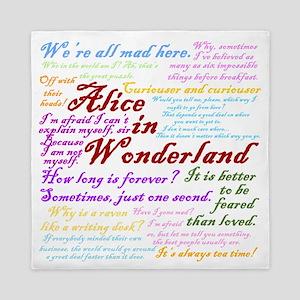 Alice in Wonderland Quotes Queen Duvet