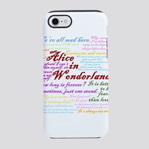 Alice in Wonderland Quotes iPhone 8/7 Tough Case