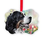Bernese Mountain Dog Painting Ornament