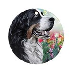 Bernese Mountain Dog Painting Round Ornament