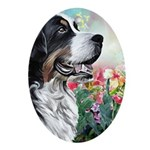 Bernese Mountain Dog Painting Oval Ornament