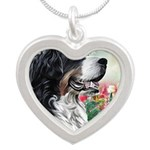 Bernese Mountain Dog Painting Necklaces