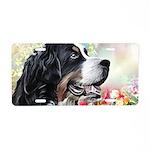 Bernese Mountain Dog Painting Aluminum License Pla