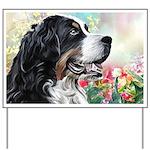 Bernese Mountain Dog Painting Yard Sign