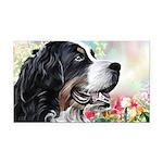 Bernese Mountain Dog Painting Rectangle Car Magnet