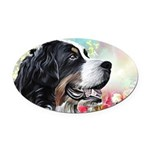 Bernese Mountain Dog Painting Oval Car Magnet