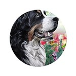 Bernese Mountain Dog Painting Button