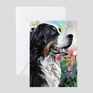 Bernese Mountain Dog Painting Greeting Cards