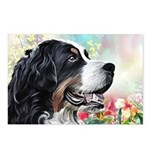 Bernese Mountain Dog Painting Postcards (Package o