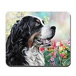 Bernese Mountain Dog Painting Mousepad