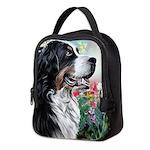 Bernese Mountain Dog Painting Neoprene Lunch Bag