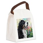 Bernese Mountain Dog Painting Canvas Lunch Bag