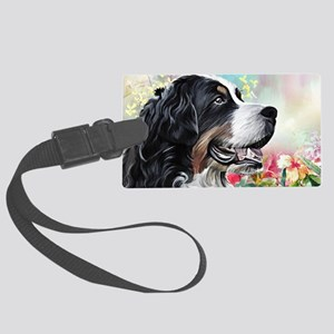 Bernese Mountain Dog Painting Luggage Tag