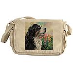 Bernese Mountain Dog Painting Messenger Bag