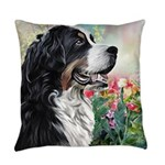 Bernese Mountain Dog Painting Everyday Pillow