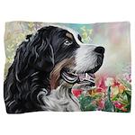 Bernese Mountain Dog Painting Pillow Sham