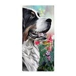 Bernese Mountain Dog Painting Beach Towel