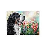 Bernese Mountain Dog Painting 5'x7'Area Rug