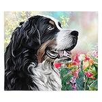 Bernese Mountain Dog Painting King Duvet