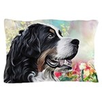 Bernese Mountain Dog Painting Pillow Case