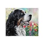 Bernese Mountain Dog Painting Throw Blanket