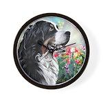 Bernese Mountain Dog Painting Wall Clock