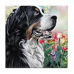 Bernese Mountain Dog Painting Tile Coaster