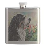 Bernese Mountain Dog Painting Flask