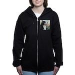 Bernese Mountain Dog Painting Women's Zip Hoodie