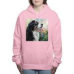 Bernese Mountain Dog Painting Women's Hooded Sweat