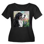 Bernese Mountain Dog Painting Plus Size T-Shirt