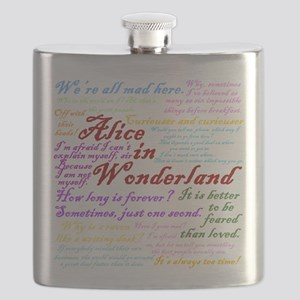 Alice in Wonderland Quotes Flask