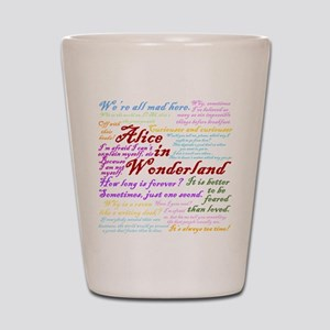 Alice in Wonderland Quotes Shot Glass